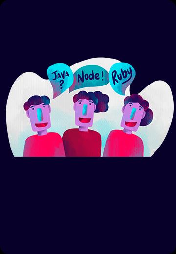 Java, Node, Ruby